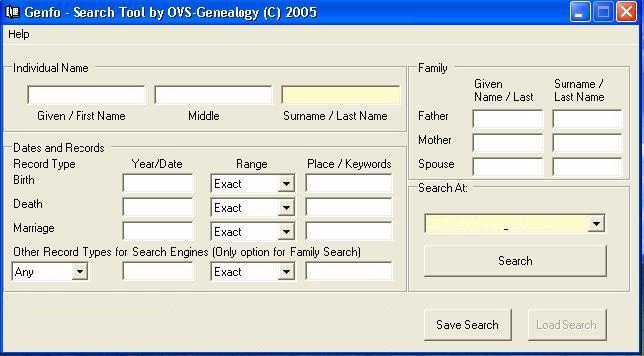 Free Search Software For Genealogy